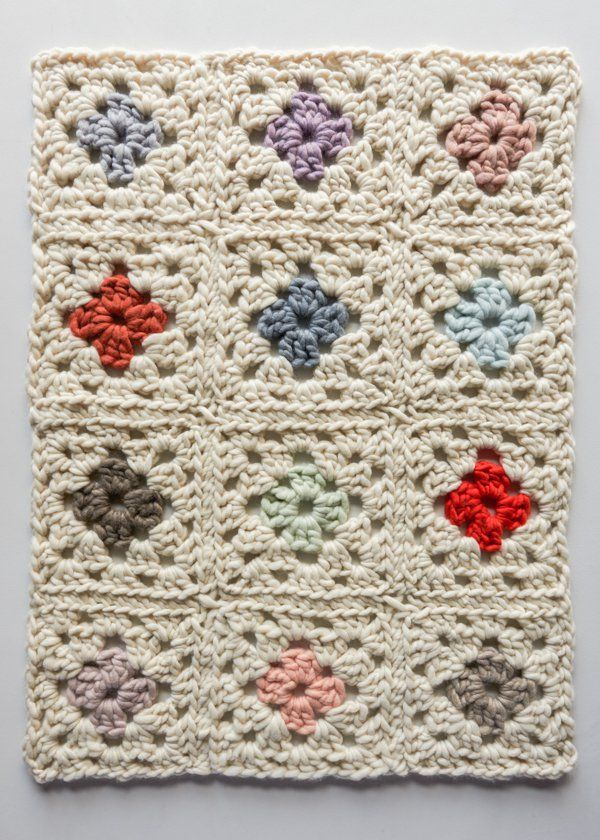 Ganxet-vànova... --Granny Square Blanket in Gentle Giant | Purl Soho ...