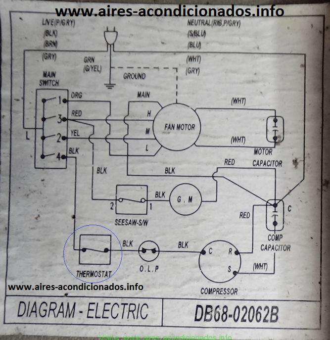 Diagrama eléctrico aire acondicionado samsung Aire