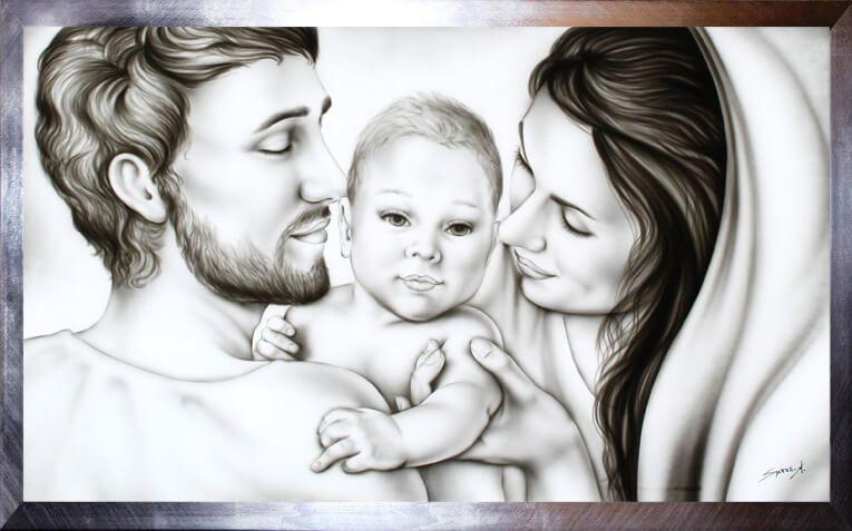 Sacra Famiglia Capezzale Quadri Moderni Sacri