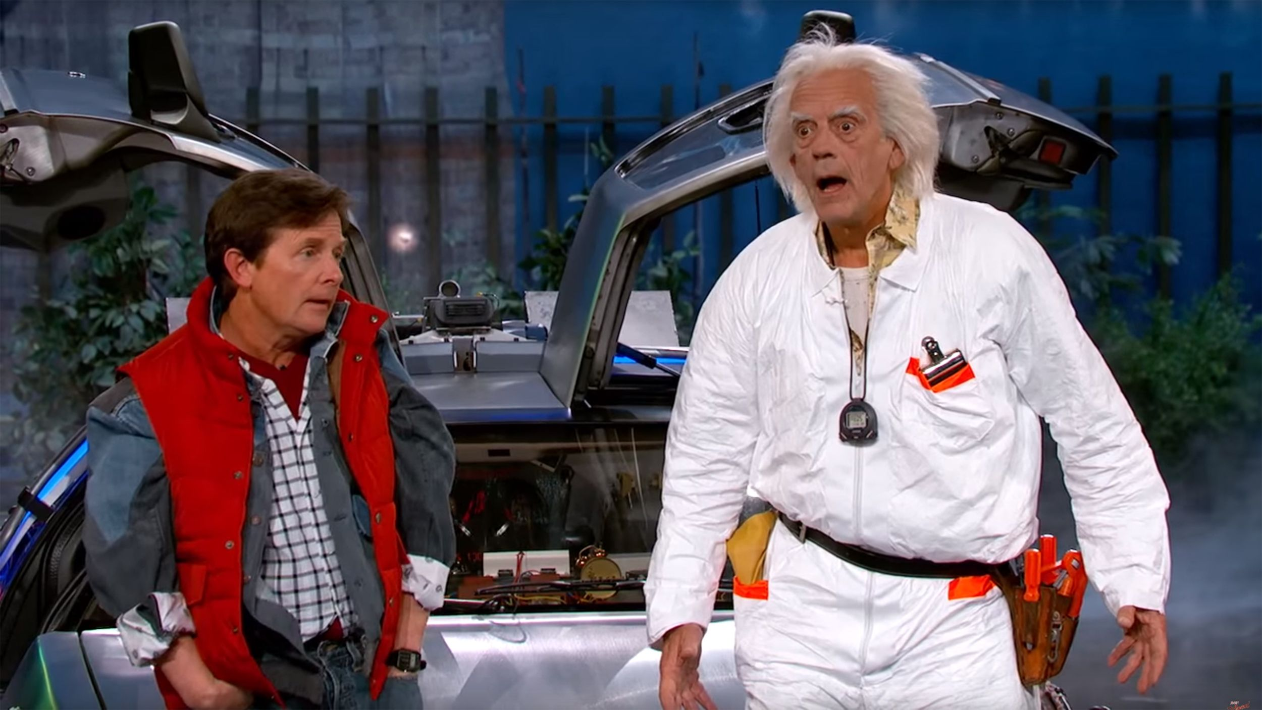 Watch Michael J Fox Christopher Lloyd Reprise Back To The