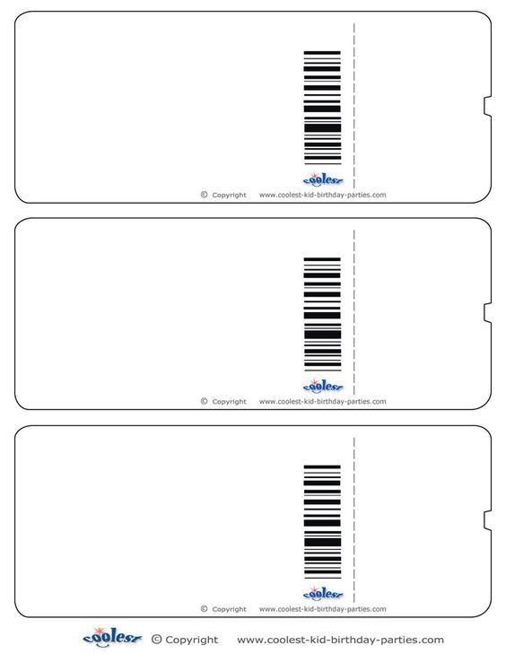 Free Printable Boarding Pass  Two Blank Airline Boarding Pass