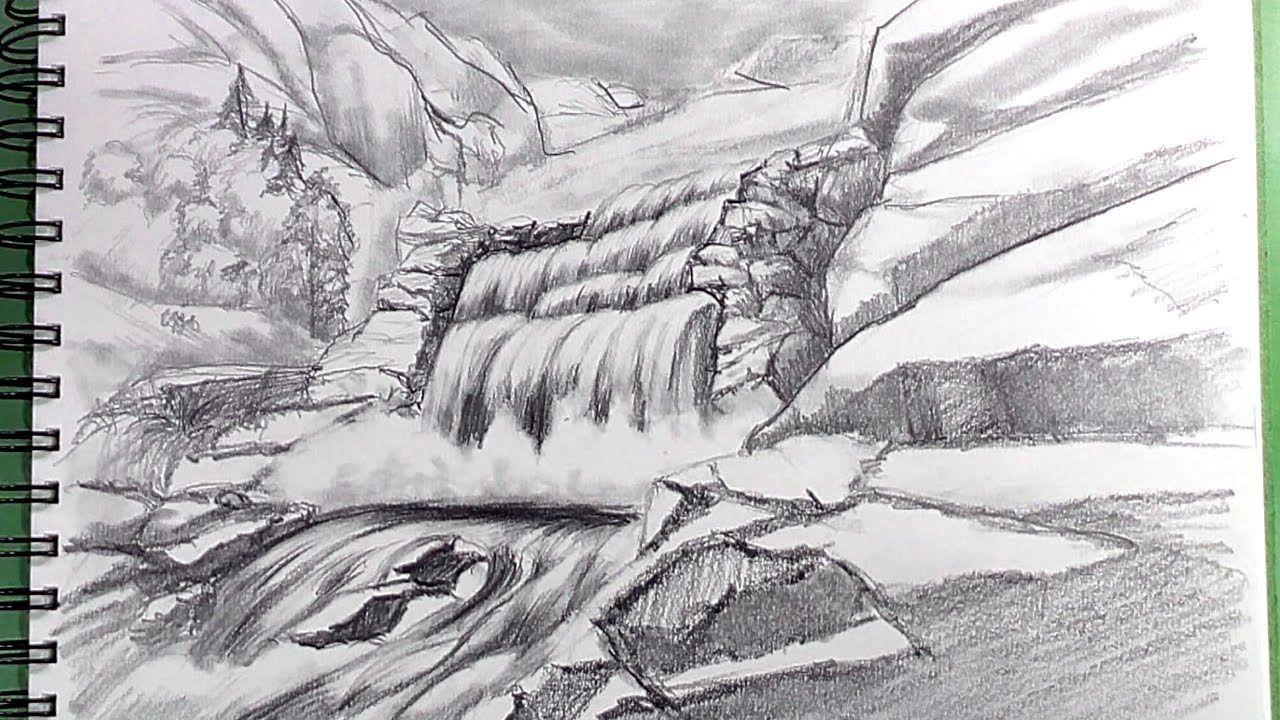 83c13360535d1654aa89a7c46d76cd28 » Realistic Pencil Waterfall