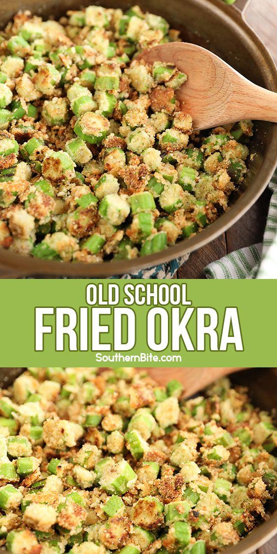 Old School Skillet Fried Okra