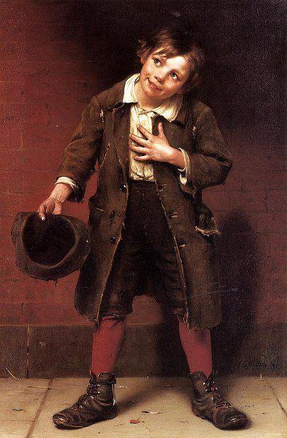 Beggar Boy. John George Brown (1831 – 1913, English-born American)