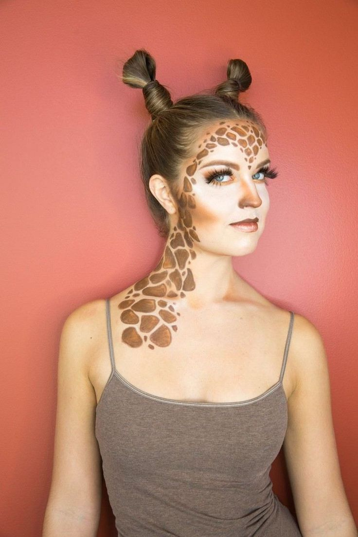frisur und schminke f r ein giraffe kost m makeup. Black Bedroom Furniture Sets. Home Design Ideas