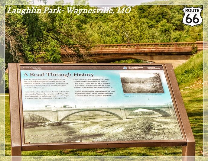 """A Road Through History""- Trail of Tears Wayside Exhibit- Waynesville, Missouri"