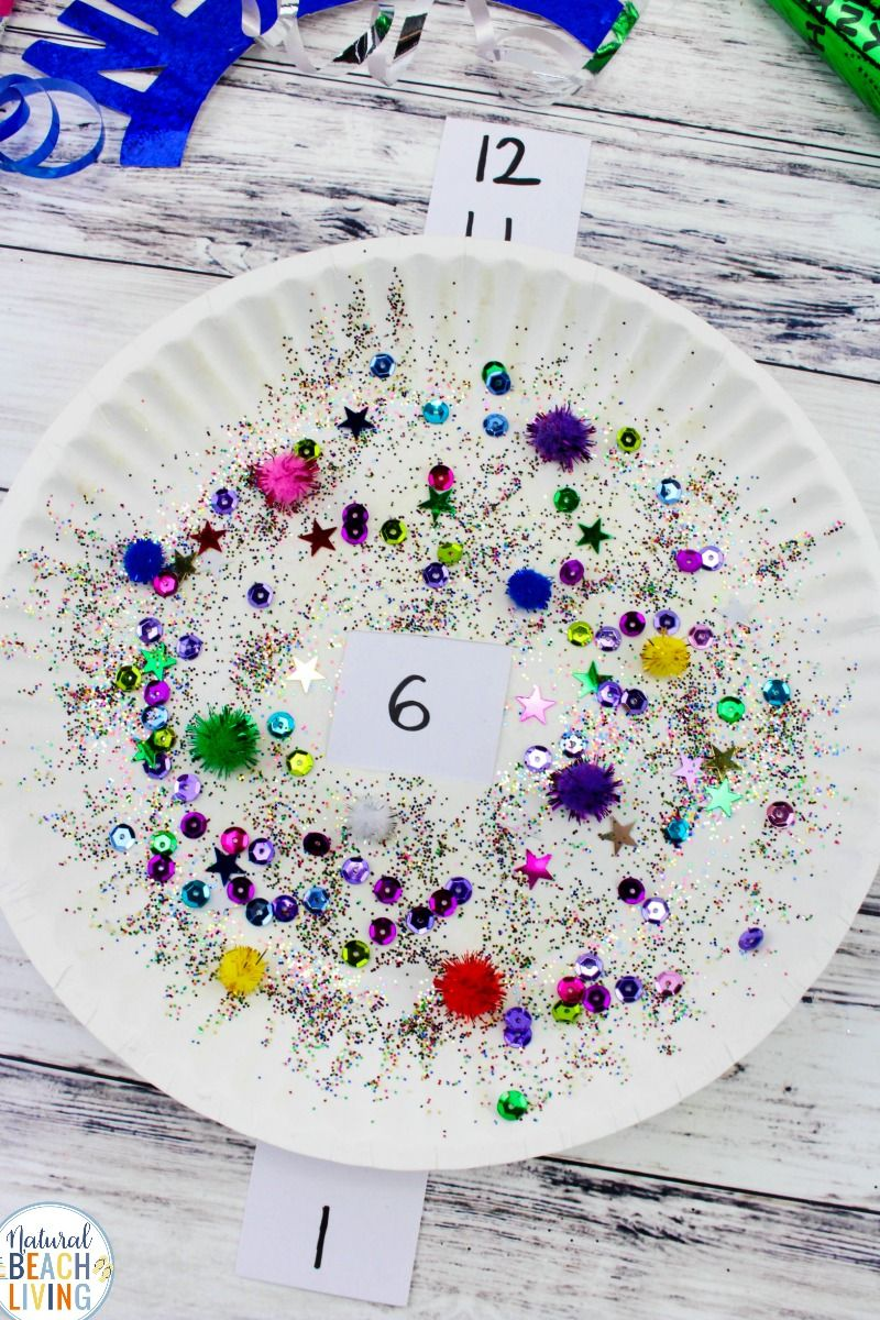 New Year's Eve Countdown Paper Plate Craft Recipe