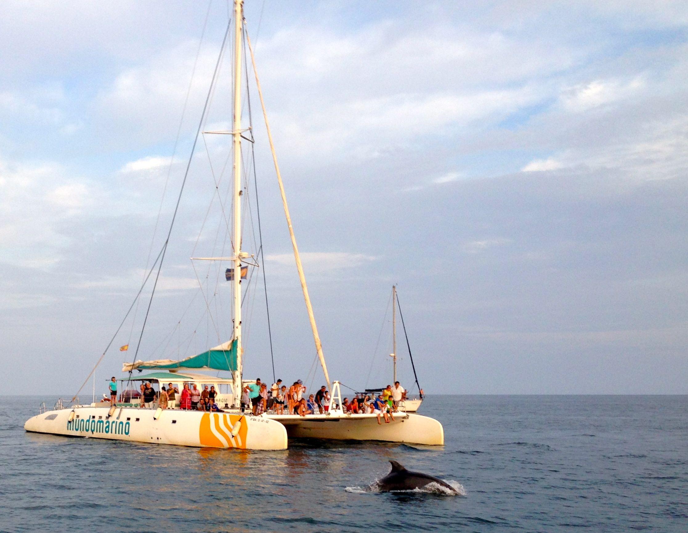 Una agradable visita a nuestro catamarán en Málaga :)