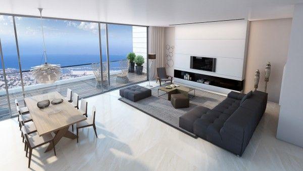 Salons modernes remarquables - 25 beaux exemples | Villa ...