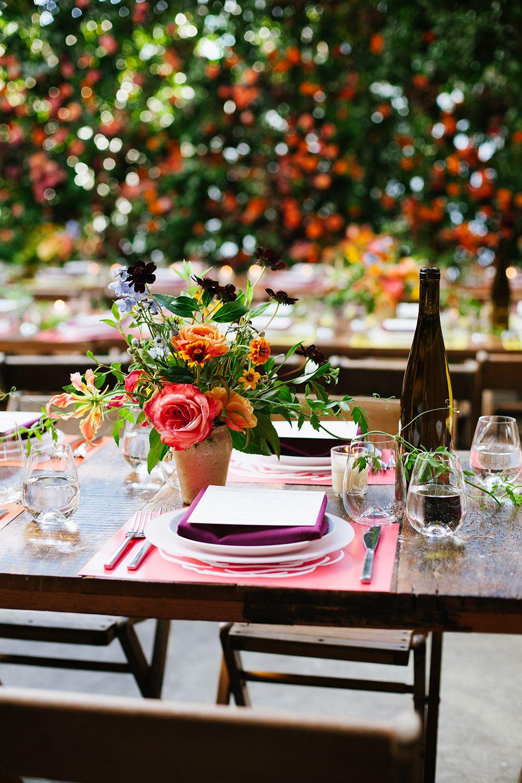 Botanical Wedding with a Mint Green Wedding Dress