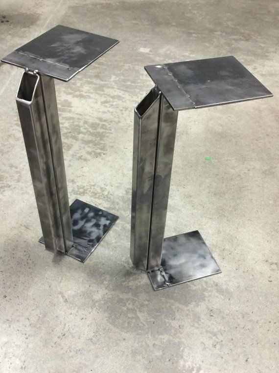Welded Metal Speaker Stands  Speaker stands, Speaker stands diy