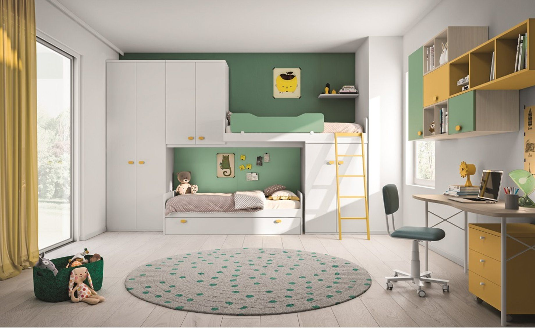 Cameretta componibile Eiffel Conforama Room, Loft bed