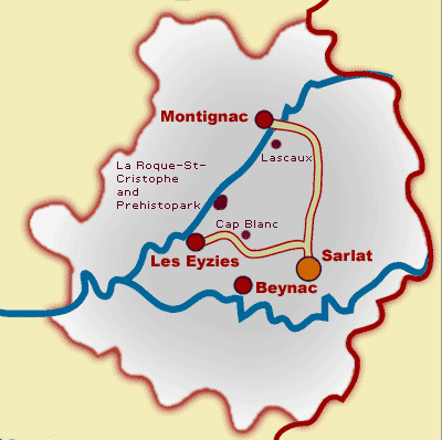 Travel Guide and Location Maps for Dordogne, France ...
