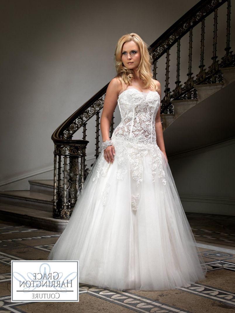 Wedding Dress See Through Corset Bodice