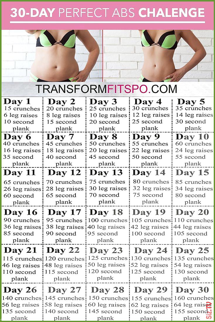 Perfect Abs 30 Day Challenge  Ein Monat Training um Bauchfett zu schmelzen und Perfect Abs 30 Day Ch...