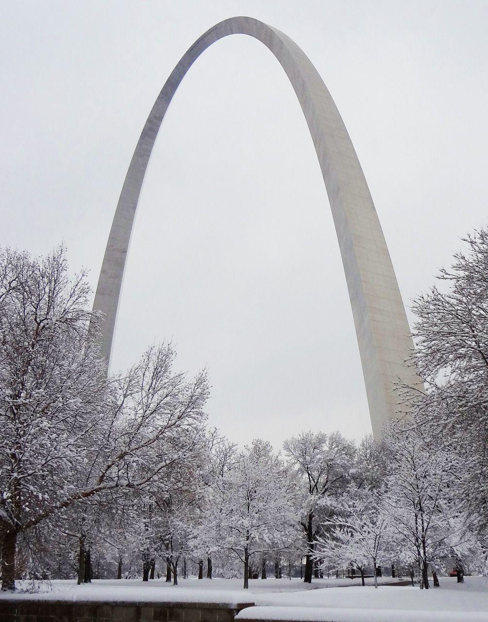Park Gateway Arch Saint Louis Snow Winter park gatewayarch