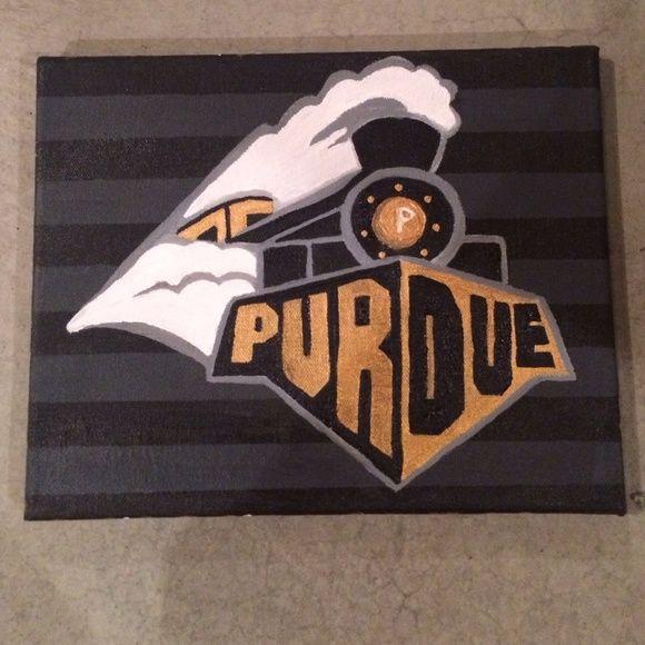 Purdue University Painting Purdue Diy Canvas Purdue University