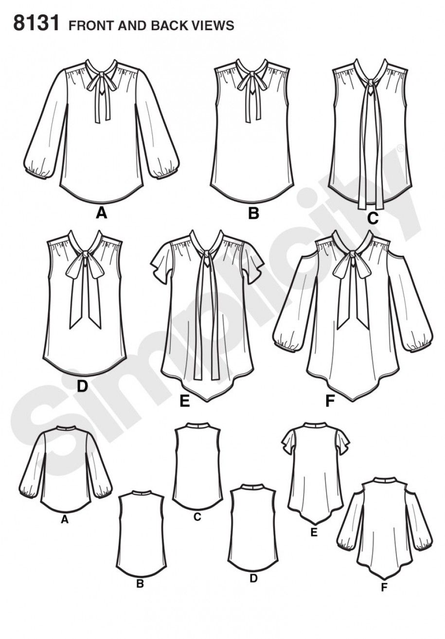 8131 - New Collection - Simplicity Patterns | блузки | Pinterest