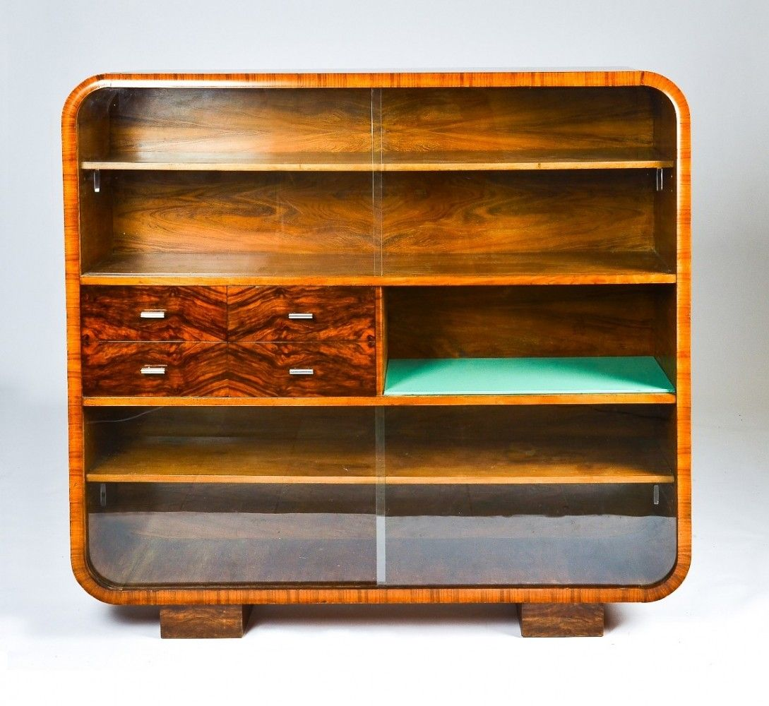 J 107 Cabinet From the Thirties by Jindřich Halabala for Spojene Up