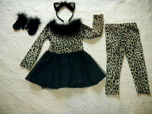 b0143c42d Quality Cat Kitty Cheetah Toddler 2T Costume Halloween Carters Dress  Leggings   eBay