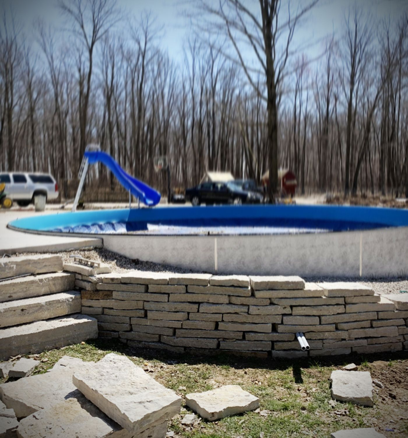 Backyard landscaping patio how to build a dry stacked