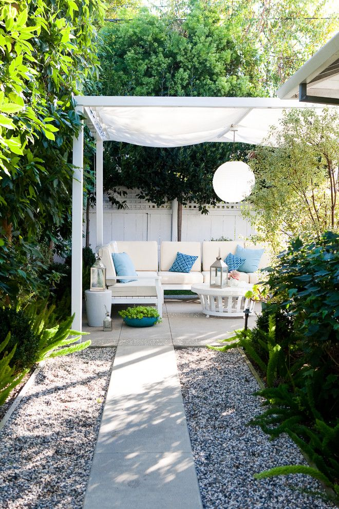 gazebo canopy patio traditional with blue concrete path fabric awning gravel landscaping backyard idea pinterest concrete path canopy and patios
