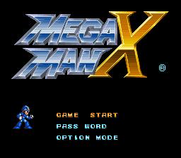 Mega Man X Classic Title Screen Logo Hero Start Password Options What Else Do You Need Mega Man Super Nintendo Mega Man X2
