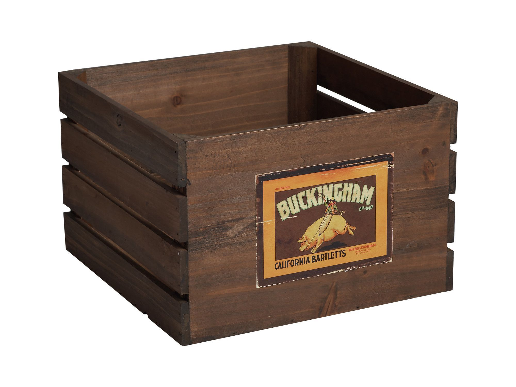 Farm To Table Wooden Retro Produce Crate