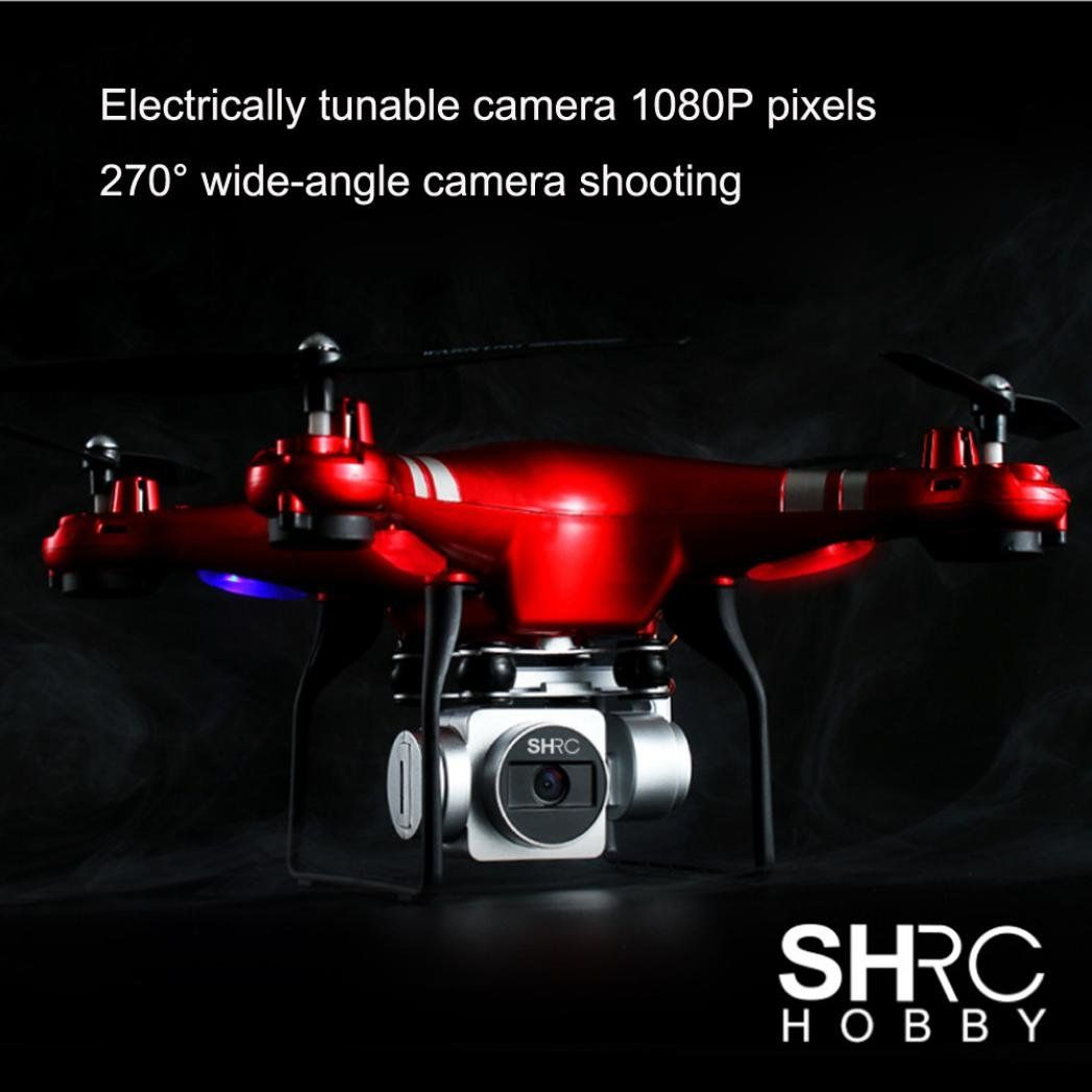 Fineser RC Quadcopter 1080P Wide Angle Lens 270 Degree Rotating HD Camera Drone FPV Gift for Kids and Drone Beginners Red *** You can get more details by clicking on the image. (This is an affiliate link) #drones #wideangle