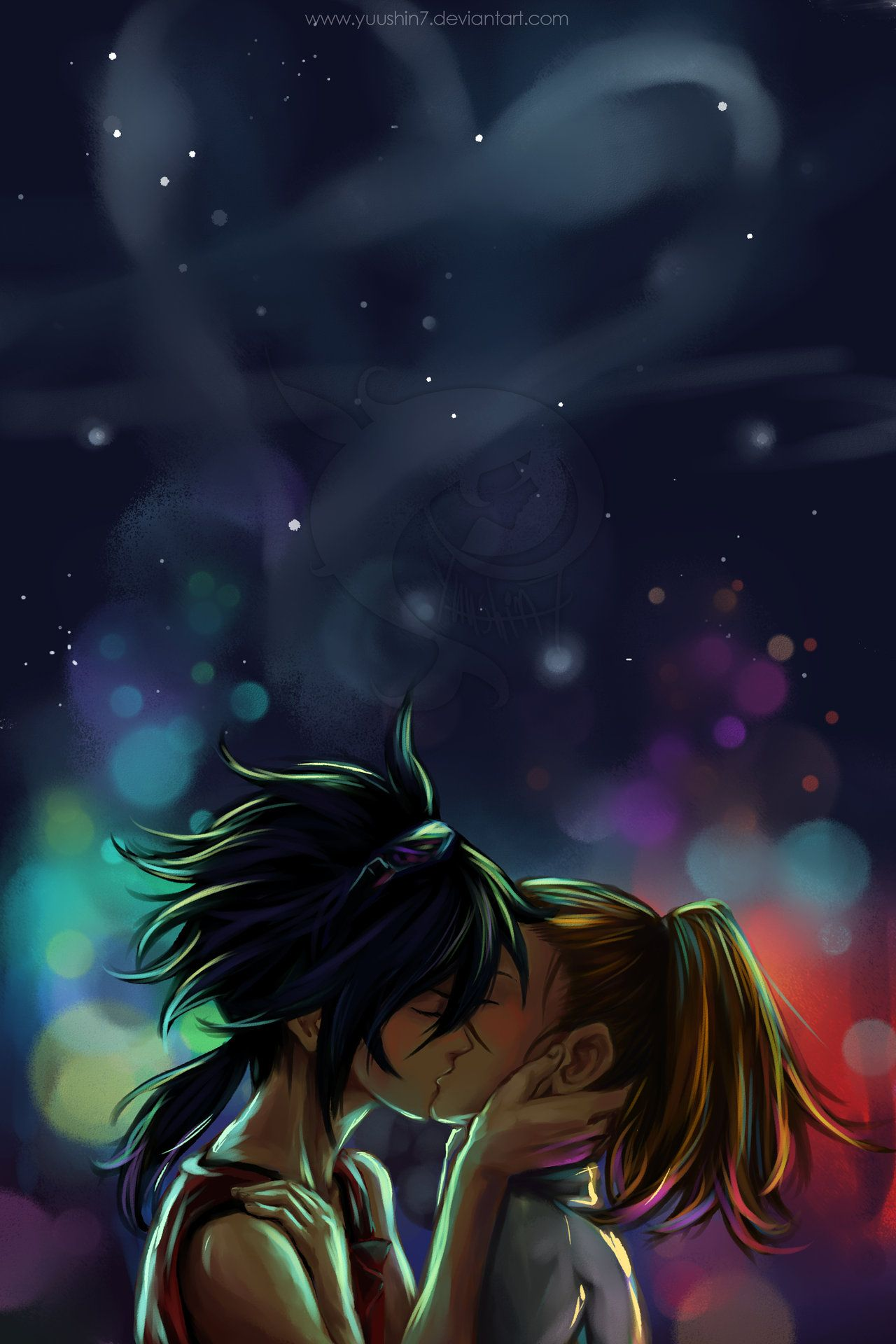 Anime Night Sky: Under The Night Sky… By *Yuushin7 Love These Two! It Was