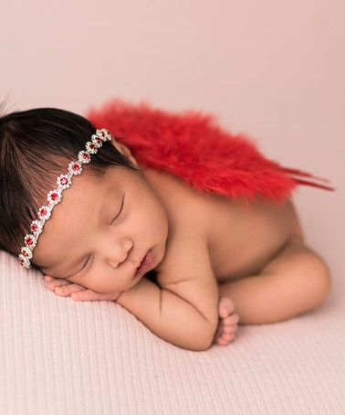 Loving this Red Wings & Rhinestone Flower Headband on #zulily! #zulilyfinds