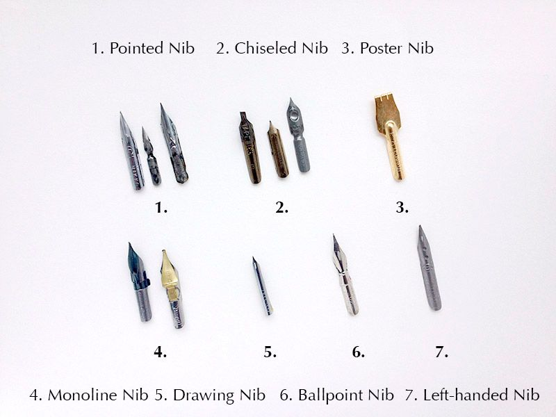 Learn More About The Different Calligraphy Nibs Here Http