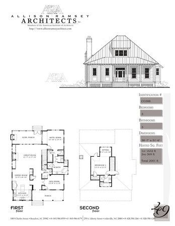 This Plan is 2001 Heated Square Feet, 3 Bedrooms & 3 Bathrooms. Carolina Inspirations, Book II, Page 49, C0388.