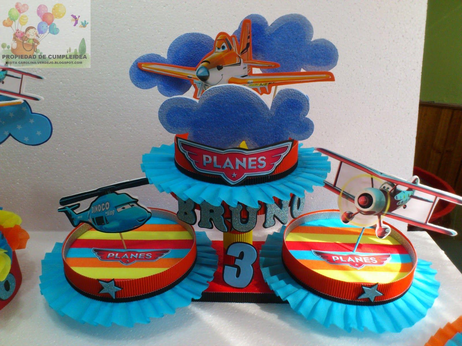 Decoraciones infantiles aviones planes disney - Mesas infantiles disney ...