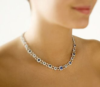 The Beckford Necklace gorgeous diamonds and sapphires available