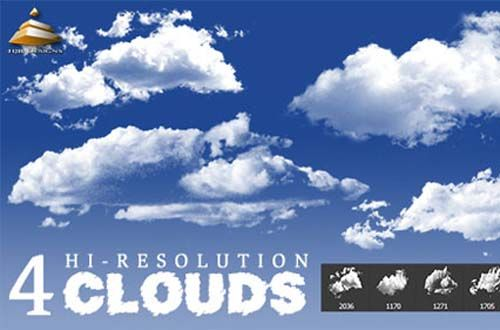 100 Free Cloud Brushes For Photoshop Free Photoshop Clouds