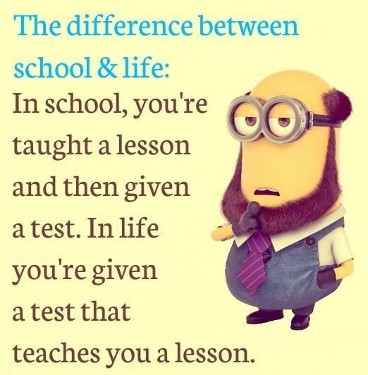 School Life Jokes Quotes Sunday Quotes Funny Minions Funny