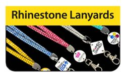 Rhinestone Lanyards Click Here for a FREE Quote / Proof