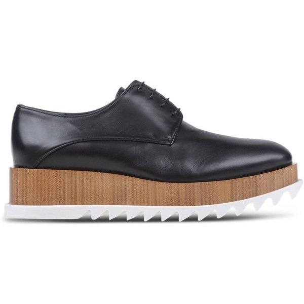 Jil Sander Brogues (930 CAD) ❤ liked on Polyvore featuring shoes, oxfords, black, wedges shoes, leather shoes, black leather brogues, brogue shoes and black shoes