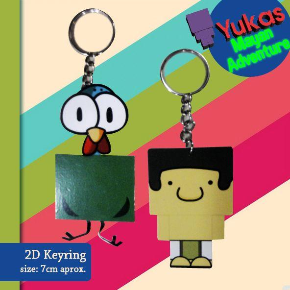 YUKA keyrings 2D!