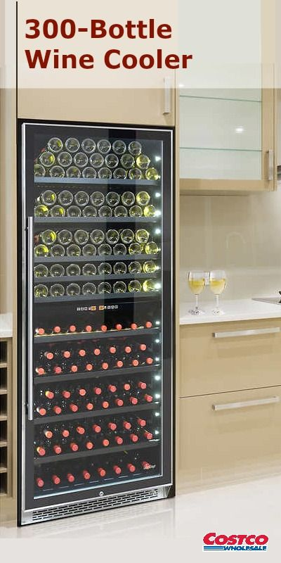 Vinotemp S 300 Bottle Dual Zone Wine Cooler Is A Must Have For The Avid Wine Collector With Two Independent Dual Zone Wine Cooler Wine Cooler Wine Collectors