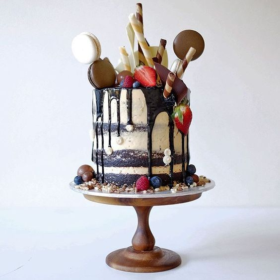 undefined Cake designs Pinterest Drip cakes Cake and Cake designs