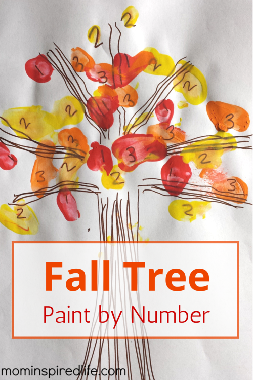 Fall Tree Paint by Number activity for kids. -Repinned by Totetude.com