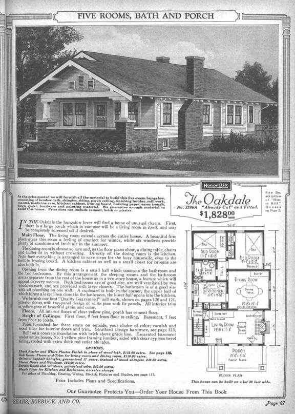Sears Kit Home: The Oakdale (available 1924-1927) | Vintage ... on napa home designs, wright home designs, elite home designs, linear home designs,