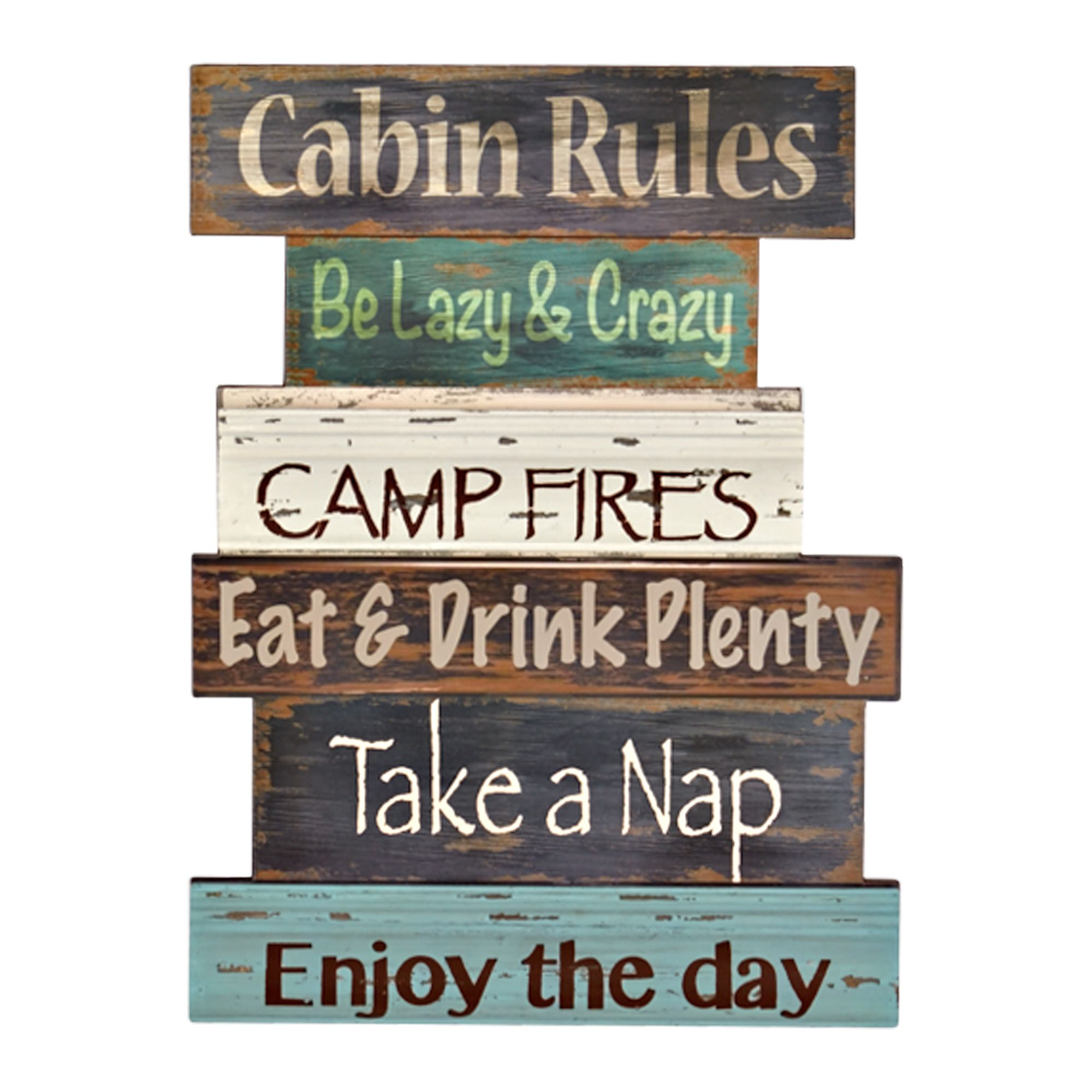 "Wall Decor Signs For Home Prepossessing Cabin Rules Wall Décor 12"" X 16""  Gordmans  Gordmans Decor Inspiration"