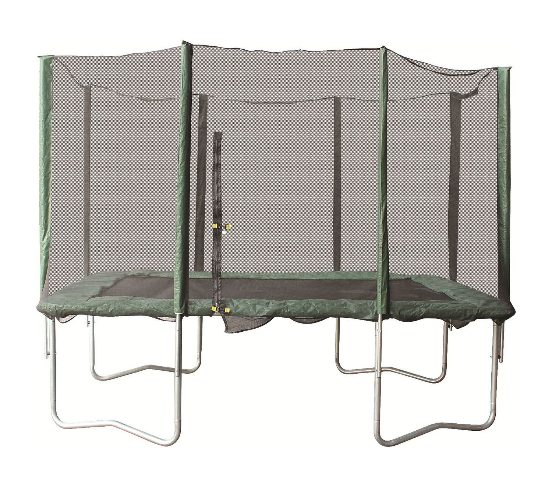 Trampoliini 305x213 cm, suorakulmainen, suojaverkolla, HANDAI Sport | Rellunkulma.fi Verkkokauppa