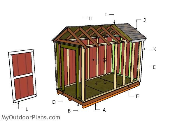 6x12 Shed Plans Myoutdoorplans Free Woodworking Plans And Projects Diy Shed Wooden Playhouse Pergola Bbq Diy Shed Shed Plans Shed Floor Plans