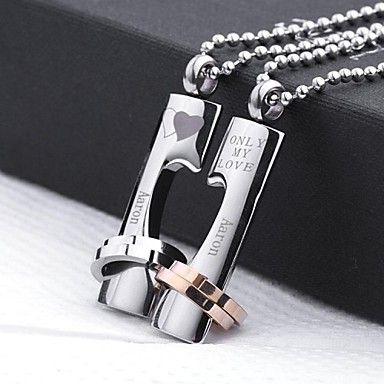 Personalizado personalizado de Hombre Mujer Unisex Grabado Joyería Collar de Plata de Oro