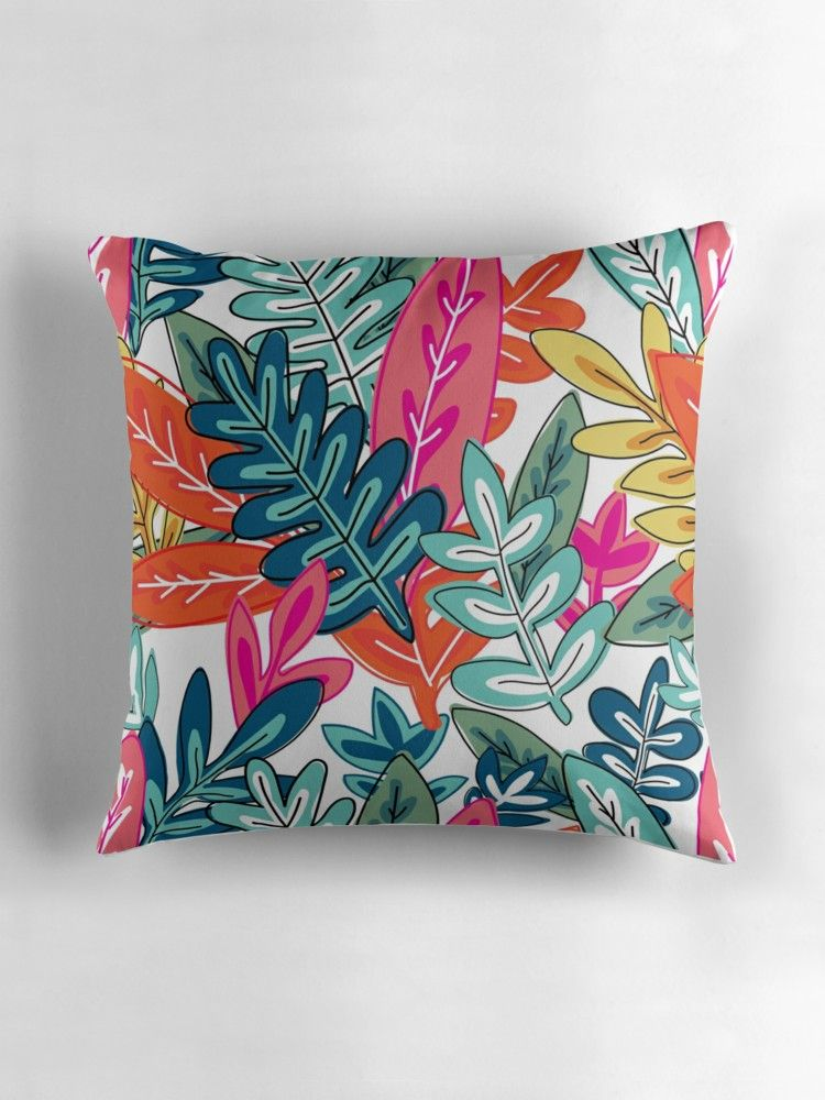 Urban Jungle Pattern Throw Pillow By Stylebytara Jungle Pattern