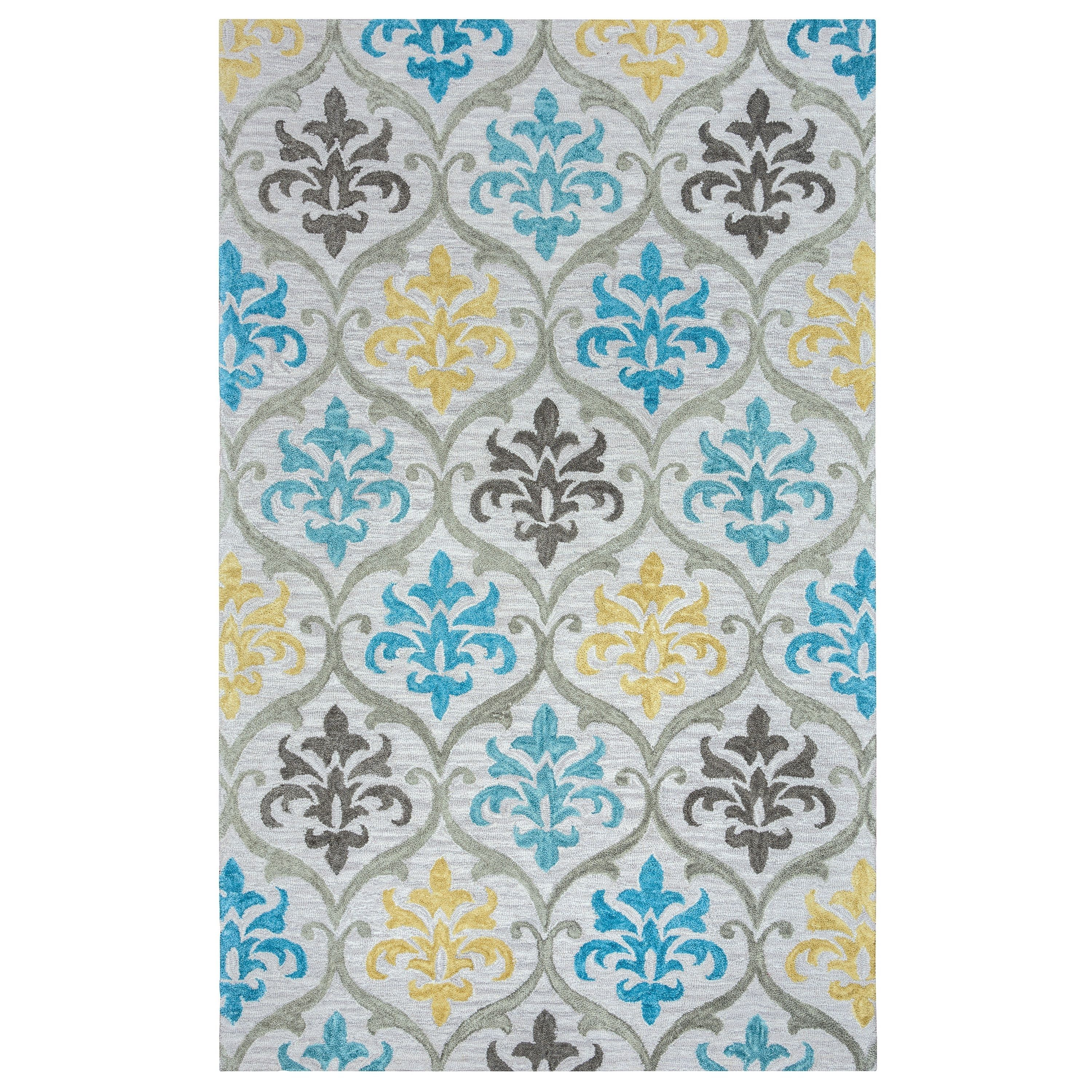 Rizzy Home Lancaster Collection LS9573 Area Rug (8' x 10') (LS9573-8'x10'), Multi, Size 8' x 10' (Cotton, Ornamental)
